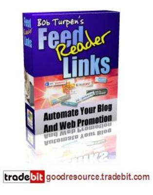 Product picture Feed Reader Links Software to Automate Your Blog (Mrr)