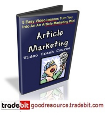 Product picture Article Marketing Crash Course MRR